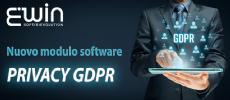 "E' disponibile il nuovo modulo software per ERWIN/DIBE: ""Privacy GDPR"""