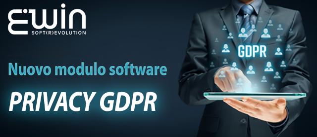 """E' disponibile il nuovo modulo software per ERWIN/DIBE: """"Privacy GDPR"""""""